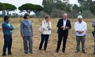Il sindaco Mazzola alla presentazione dell'accordo tra il CFS e la Soprintendenza per gestire Gravisca