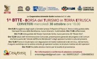 Cerveteri Turismo: mercoledì la Prima Borsa del Turismo della Terra Etrusca