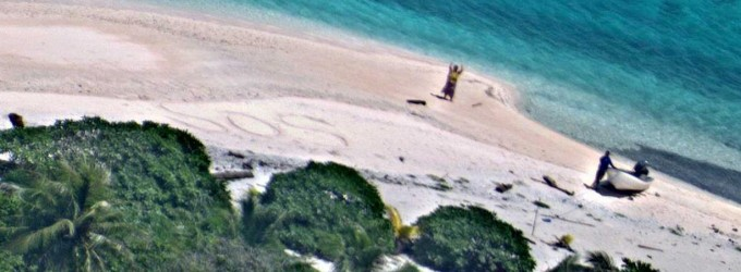 Dispersi su un isola deserta vengono salvati dalla Marina statunitense