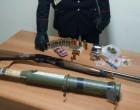 In casa con un lanciagranate pusher arrestato