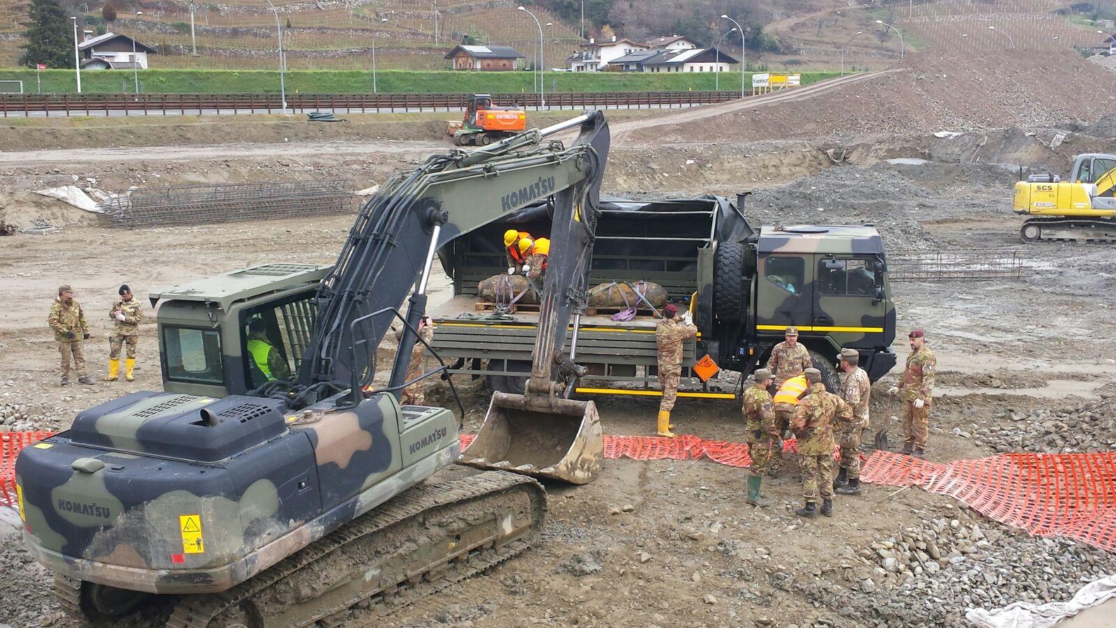 L'esercito neutralizza due bombe d'aereo da 1000 libbre nel Brennero