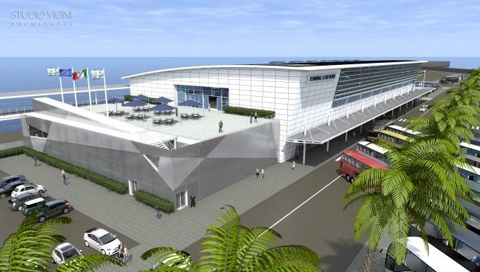Civitavecchia: il ministro Delrio all'inaugurazione dei lavori del nuovo terminal crociere RCT