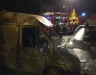Civitavecchia: due automezzi in fiamme