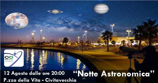 """Sabato 12 la """"Notte Astronomica"""" alla Marina di Civitavecchia"""