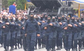 Esercitazione congiunta antiterrorismo della Polizia di Stato e dell'Arma dei Carabinieri a Roma