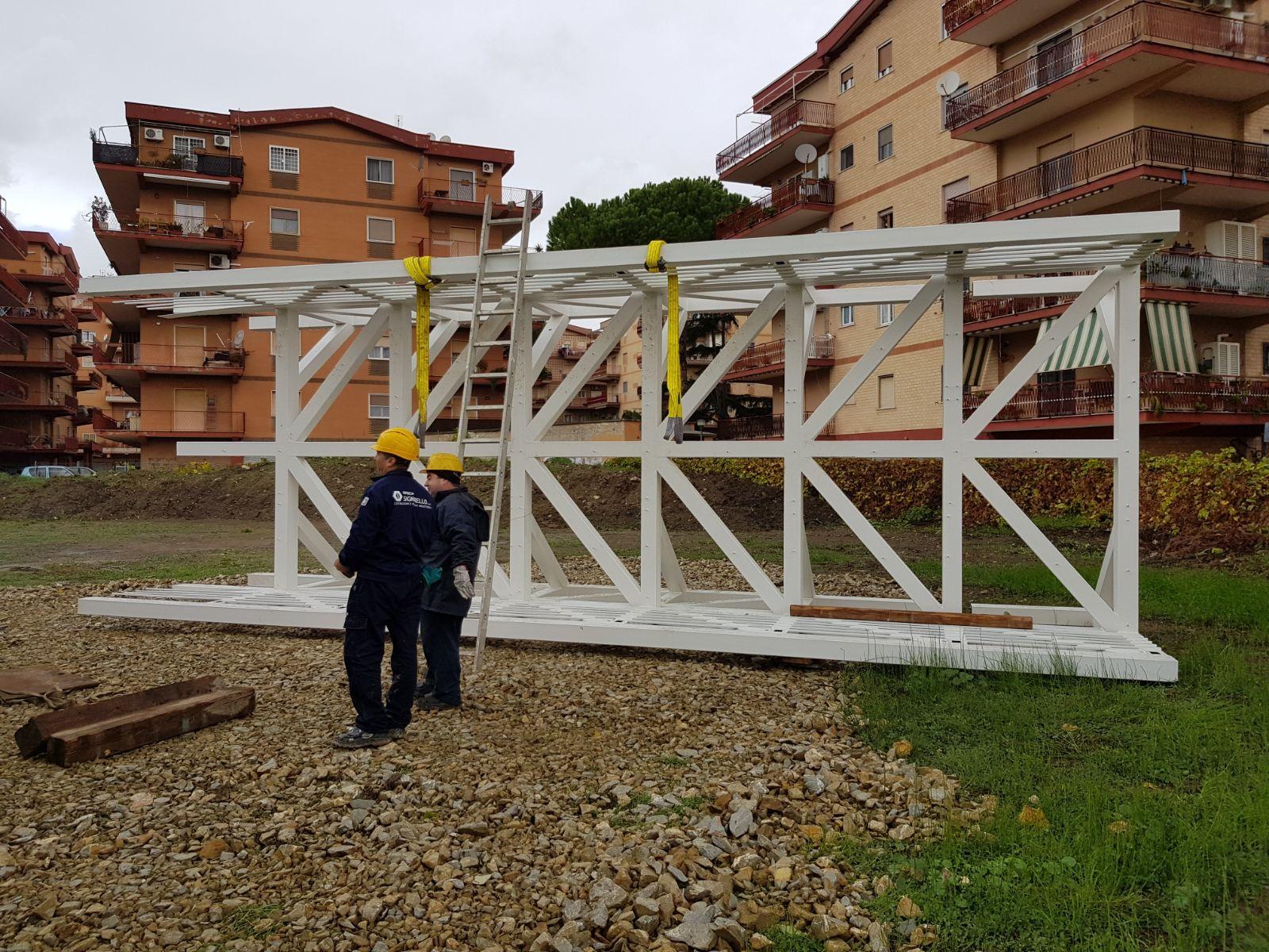 """Ladispoli, """"Iniziato l'assemblaggio del ponte sul Sanguinara"""""""