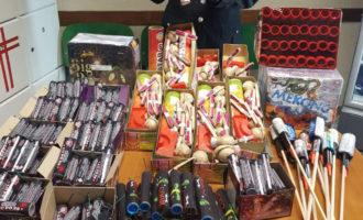 Maxi sequestro di fuochi d'artificio a Ladispoli