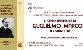 La Società Storica di Civitavecchia presenta il bollettino dedicato a G. Marconi