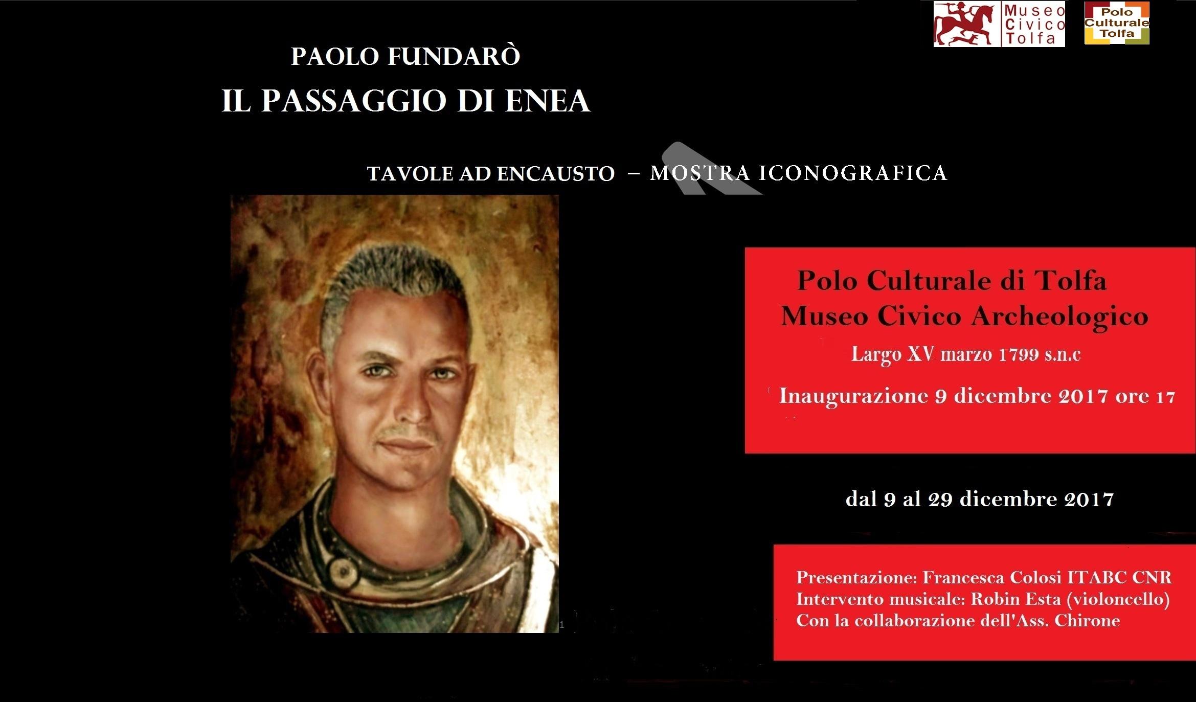 """Tolfa, cultura: al museo archeologico il 9 si apre la mostra """"Il passaggio di Enea"""""""
