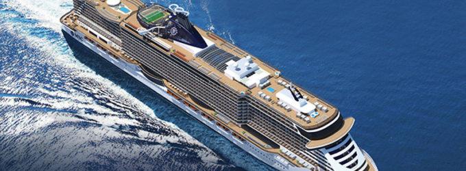 La gigantesca MSC Seaview sarà battezzata al porto di Civitavecchia invitato il presidente Mattarella