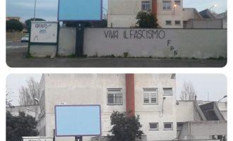 """Fiumicino, Montino: """"Rimosse scritte fasciste da un muro di una scuola elementare"""""""