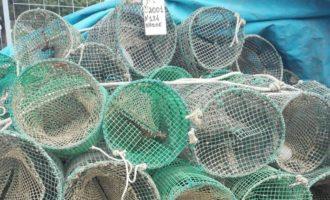 Pesca di frodo, sequestrate dal Reparto Operativo Aeronavale di Civitavecchia 124 nasse