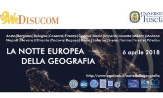 Il 6 aprile 2018 Notte Europea della Geografia anche all'UNITUS