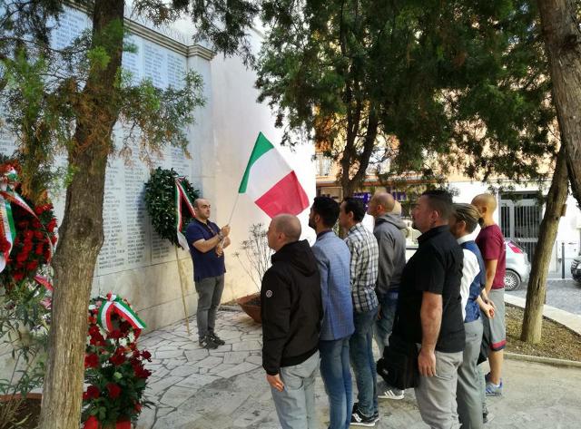 CasaPound ricorda le vittime di Civitavecchia del bombardamento alleato