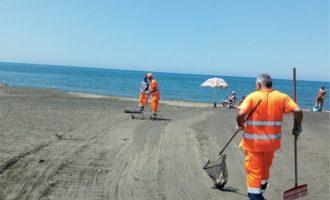 Campo di Mare, pulizia straordinaria di un tratto di arenile