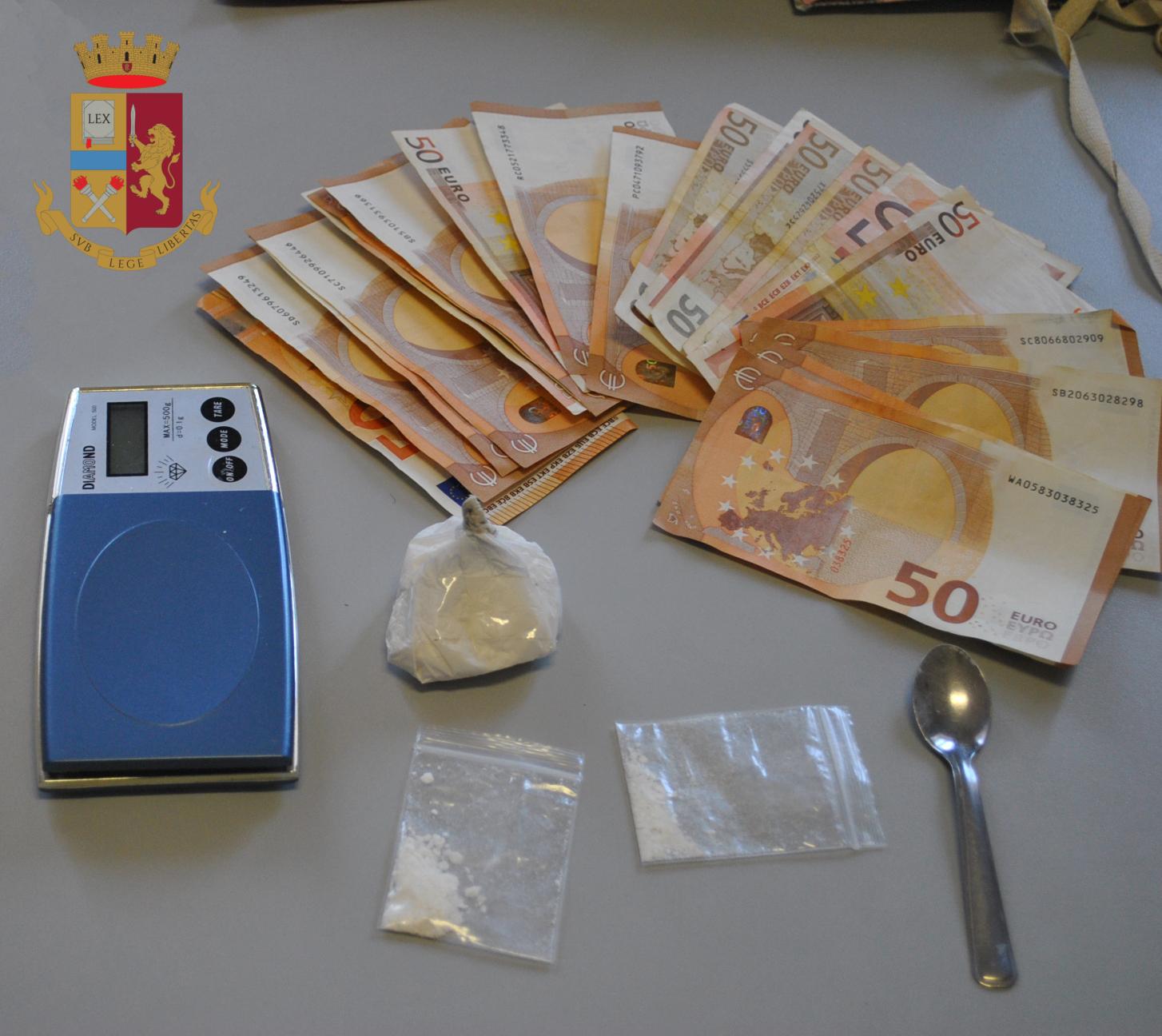 Civitavecchia, sequestrati dalla Polizia di Stato 22 grammi di cocaina arrestato un 65 enne