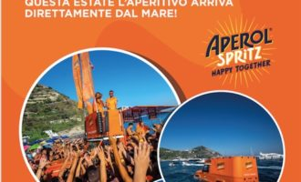 Cerveteri, a Campo di Mare l'originale anfibio Aperol Spritz
