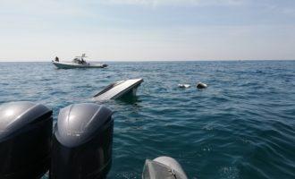 Natante affonda, vedetta della guardia di Finanza salva 4 giovani diportisti