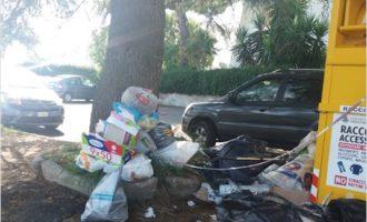 Discarica abusiva in Via Marcina a Cerenova