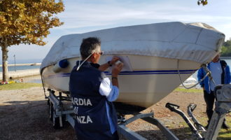 Le Fiamme Gialle di Civitavecchia a tutela del demanio e dell'ambiente sequestrati 4 natanti da diporto