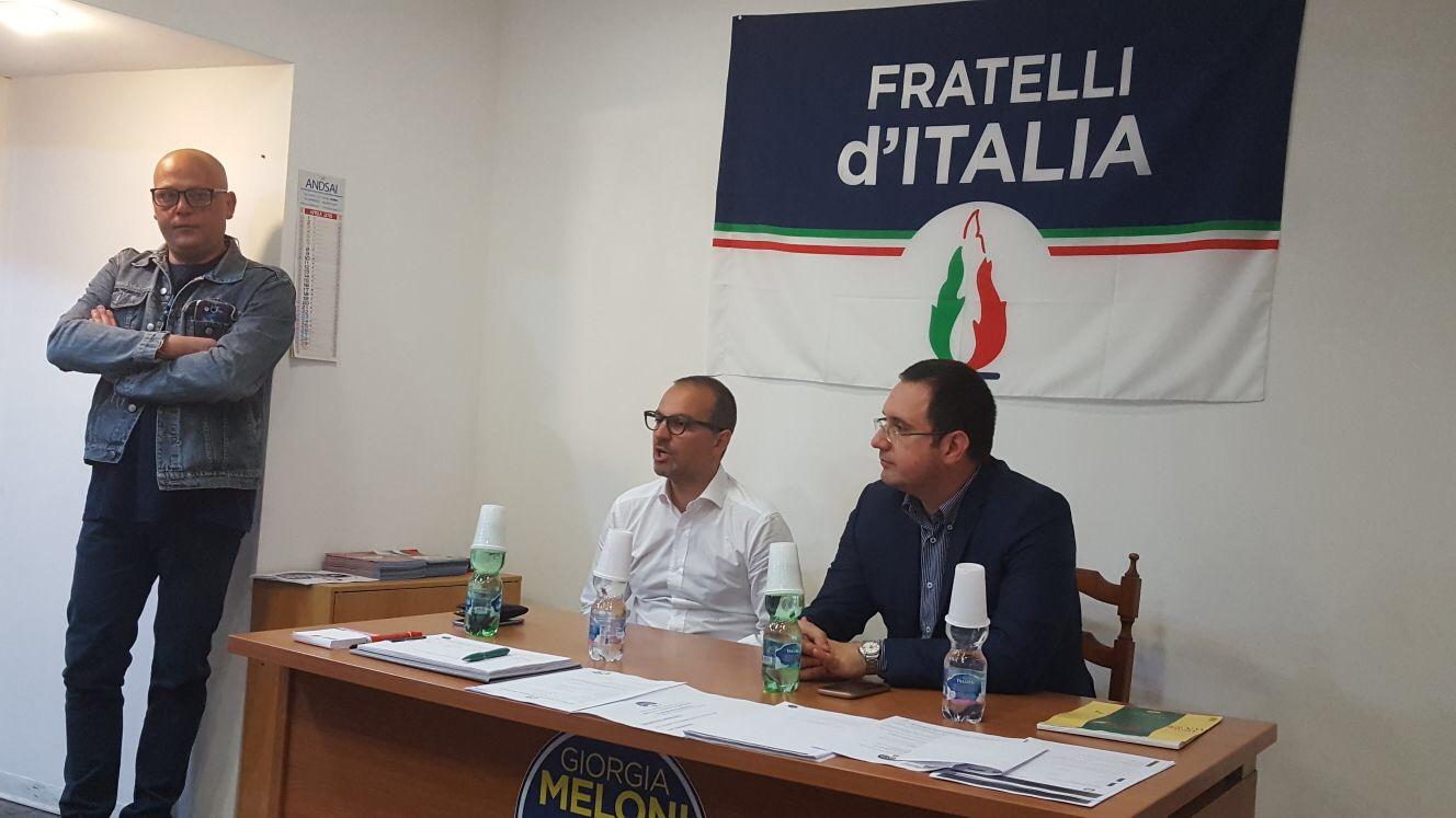 Il consigliere regionale di Fratelli d'Italia Chiara Colosimo a Civitavecchia