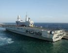La portaerei Cavour in sosta a Civitavecchia dal 13 al 18 ottobre