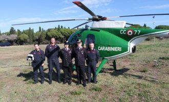 Cerveteri, sopralluoghi e pattugliamenti in elicottero da parte dei Carabinieri e della Soprintendenza