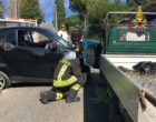 Santa Marinella, incidente tra un'auto ed un Ape