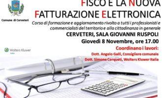 Cerveteri, a Sala Ruspoli il convegno 'Fisco e la nuova fatturazione elettronica'