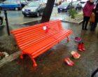 A Santa Marinella una panchina rossa in sostegno delle donne contro ogni violenza