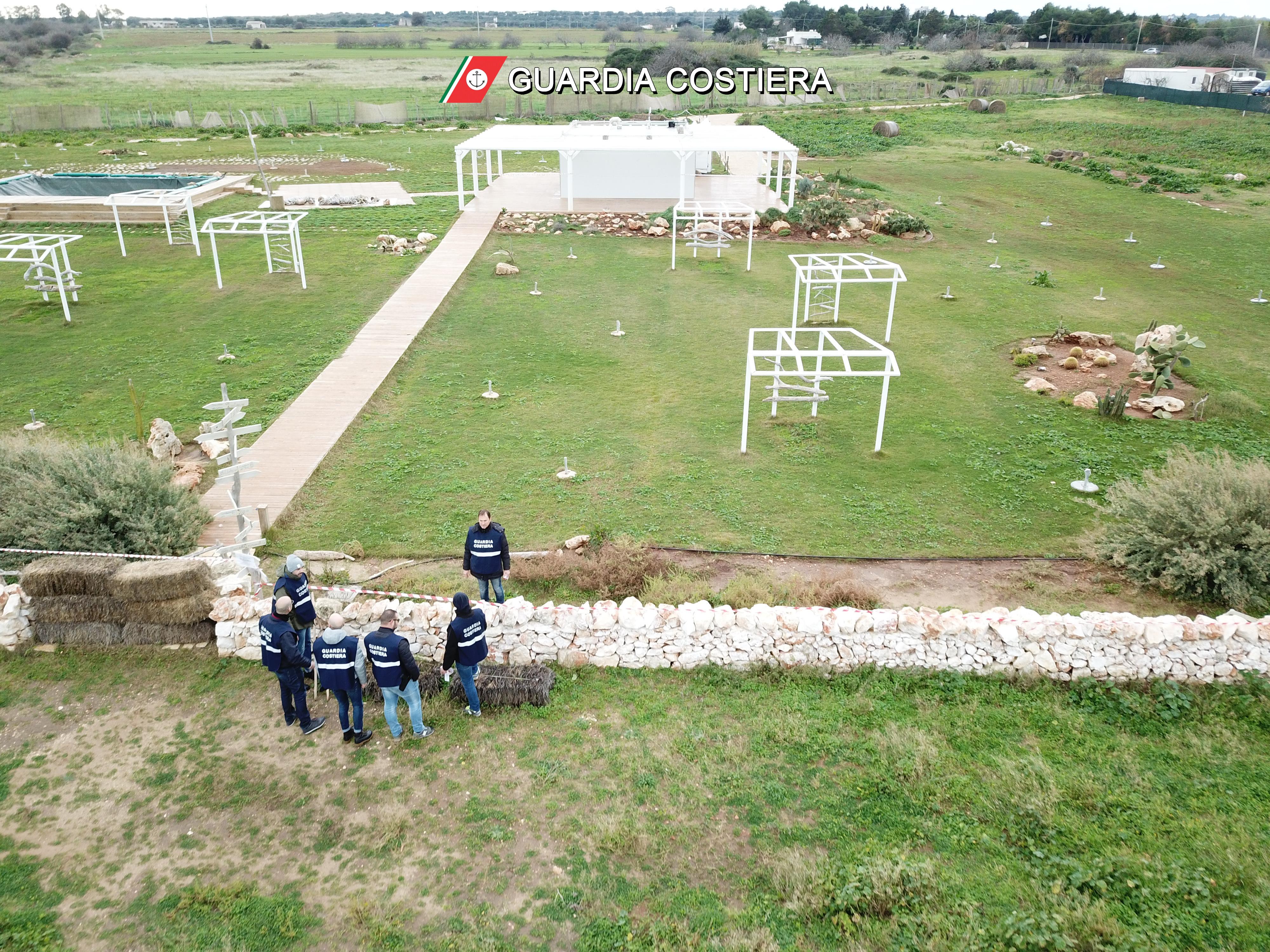 Masseria in area di particolare pregio ambientale e paesaggistico scatta il sequestro