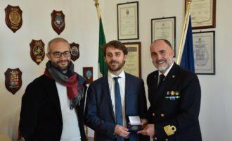 Il sottosegretario alla giustizia on. Vittorio Ferraresi in visita alla Capitaneria di porto di Civitavecchia