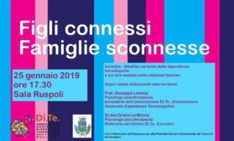 Cerveteri, a Sala Ruspoli il convegno 'Figli connessi. Famiglie sconnesse'