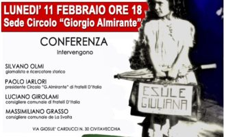Civitavecchia, Fratelli D'Italia ricorda le Foibe con una due giorni di eventi