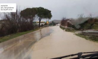 Strada Tarquiniese denunciata la pericolosità e le condizioni di dissesto