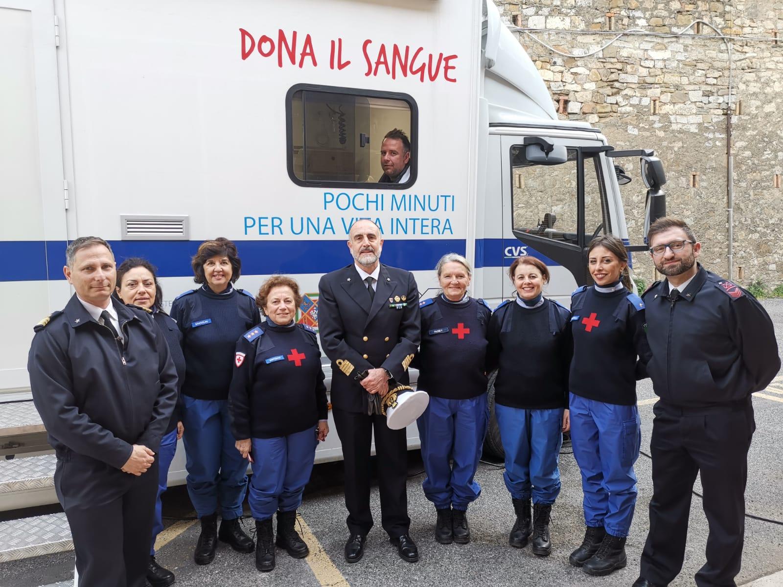 """La Guardia Costiera di Civitavecchia aderisce all'iniziativa della Croce Rossa """"Dona il sangue salva una vita"""""""