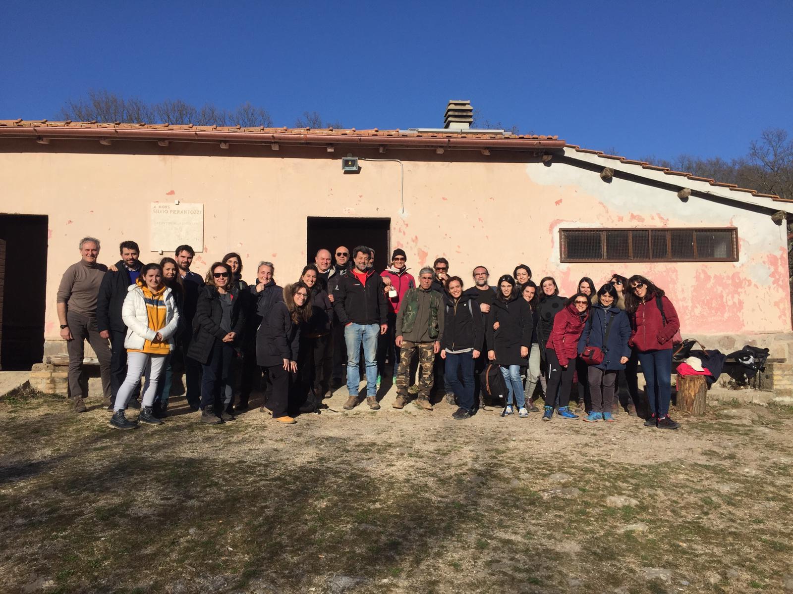 Tolfa, visita degli studenti di architettura del paesaggio di Roma Tre