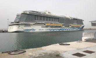 Al porto di Civitavecchia arriva l'AIDA NOVA la prima nave da crociera a Gas Naturale Liquefatto (GNL)