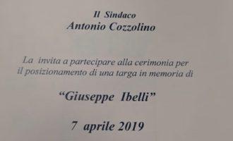 Civitavecchia, targa in memoria del Vigile del Fuoco Giuseppe Ibelli