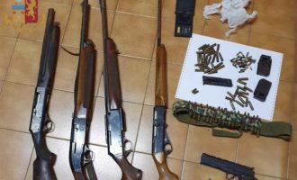 Civitavecchia, arrestato un 35enne nascondeva in un magazzino 4 fucili, una pistola e un centinaio di cartucce