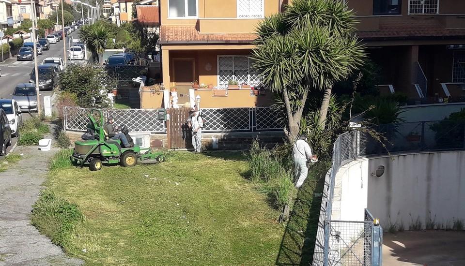 Ladispoli, iniziato lo sfalcio delle erbe sui marciapiedi