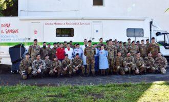 L'11° Trasmissioni dona il sangue al San Camillo-Forlanini
