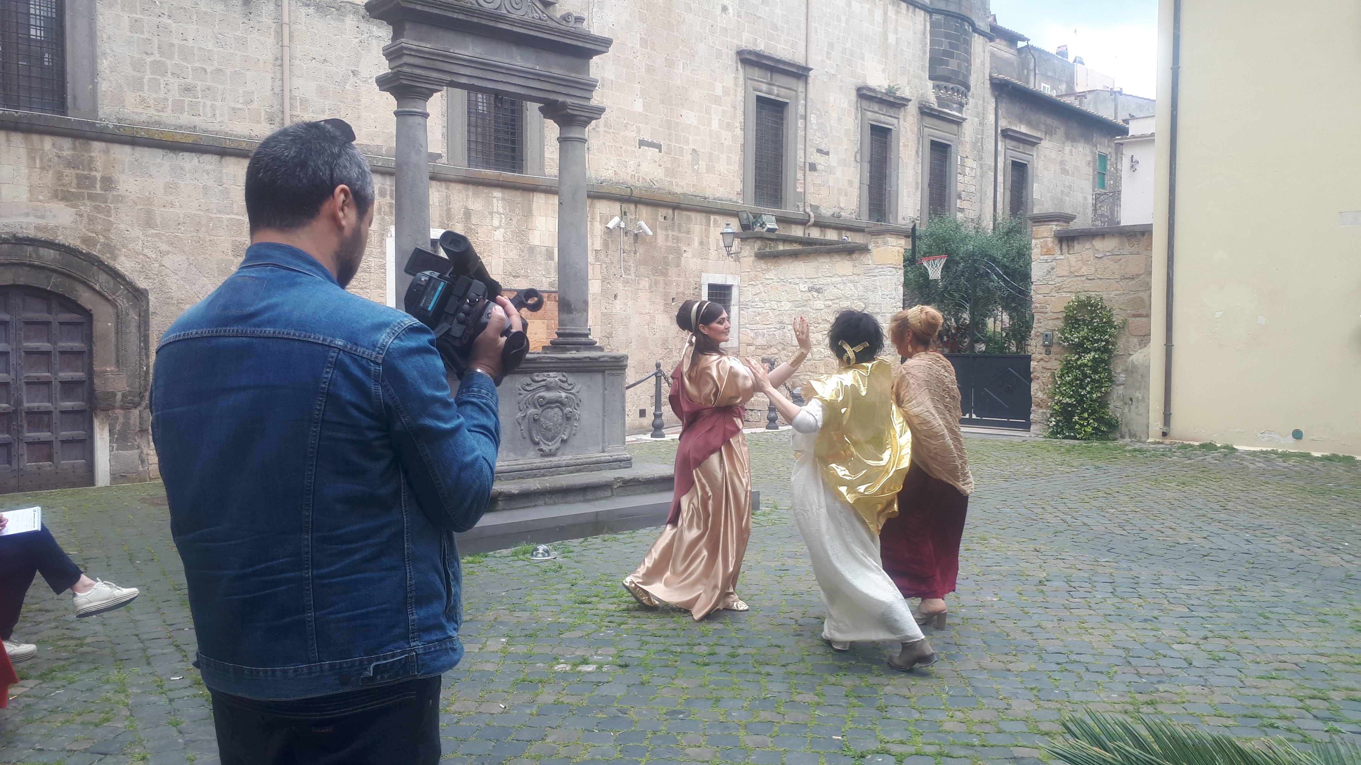 Le telecamere RAI a Tarquinia per un flash mob etrusco
