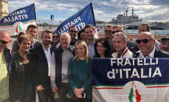 Giorgia Meloni a Civitavecchia per incontrare i candidati al Consiglio comunale