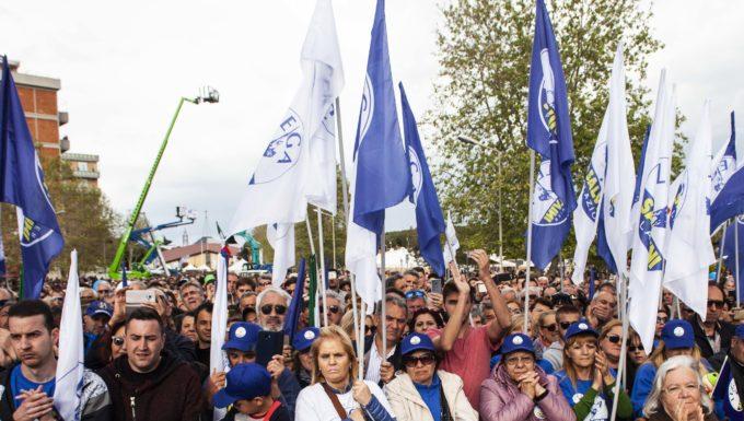 Tarquinia, Salvini a fianco di Giulivi presenti quasi 15 mila persone