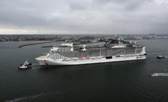 Prime prove per MSC Grandiosa la nave ecologica presto al porto di Civitavecchia