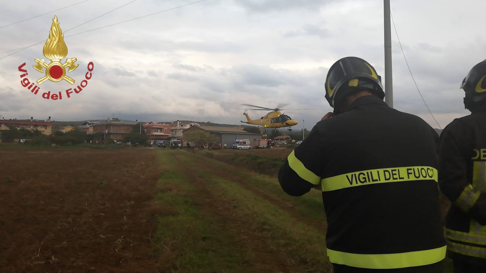 Santa Severa, precipita un aereo ultraleggero un morto ed un ferito trasportato in eliambulanza
