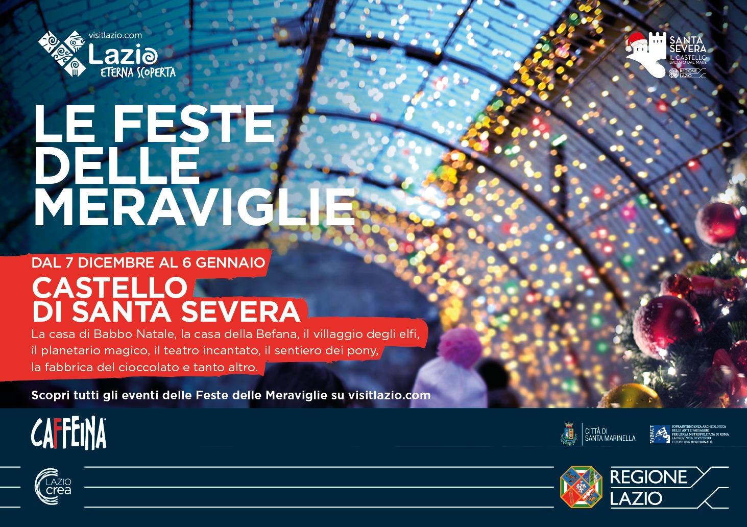 """Santa Severa: le """"Feste delle meraviglie"""" al Castello con il Villaggio del Natale"""