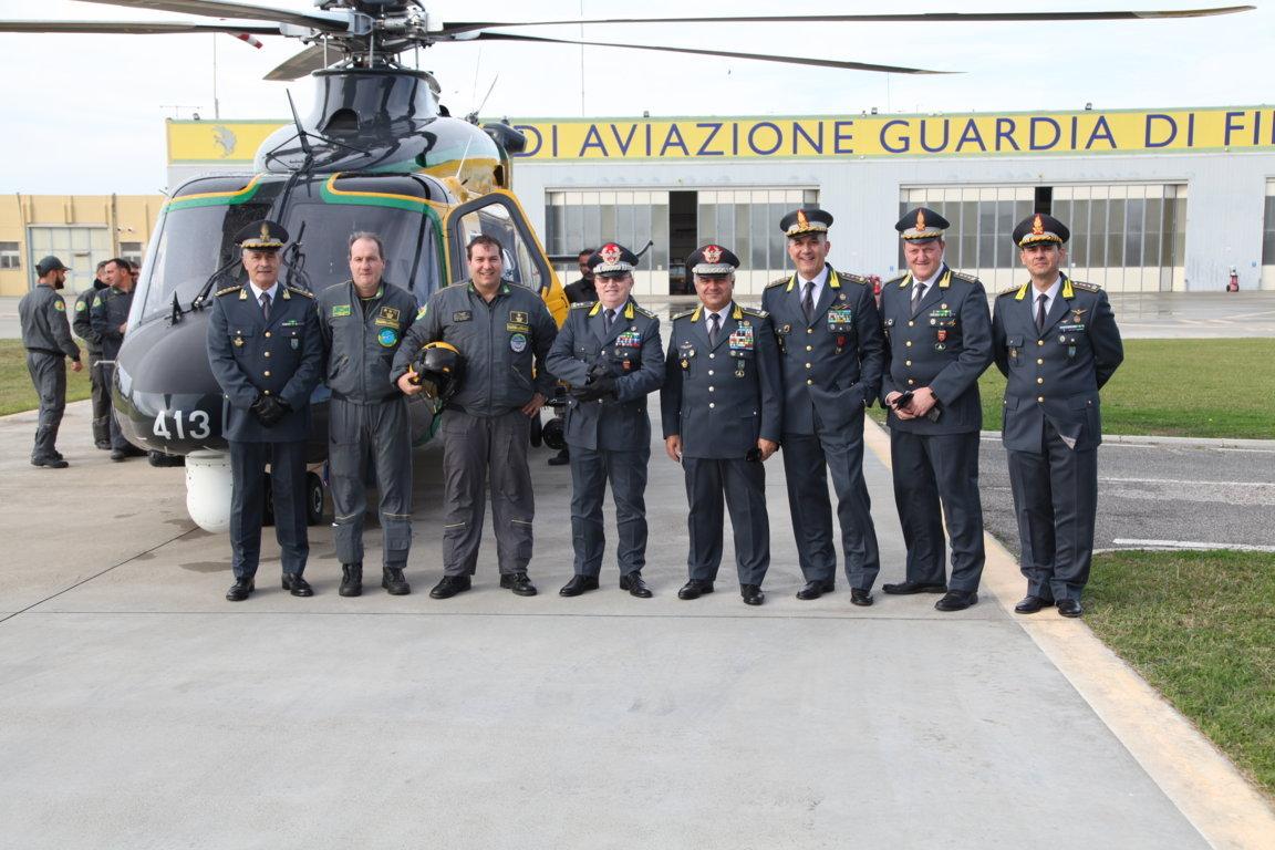 Consegna del nuovo elicottero PH-139D alla sezione aerea Guardia di Finanza di Pratica di Mare