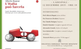 """A Ladispoli presso la biblioteca Impastato la  presentazione del libro """"L'Italia può farcela"""" di Alberto Bagnai"""